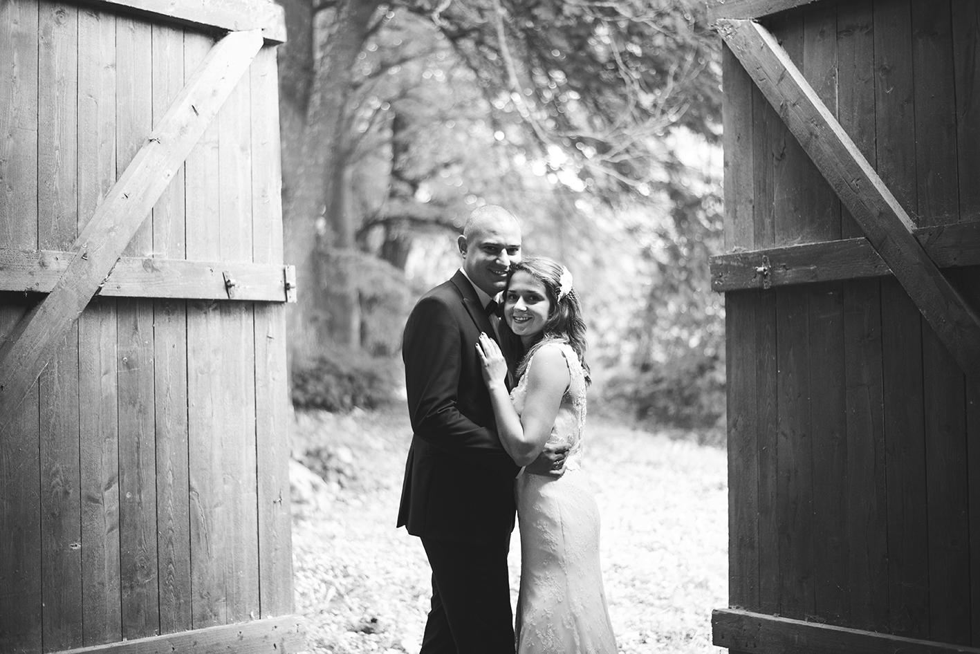 czarno-biały ślub